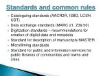standards and common rules
