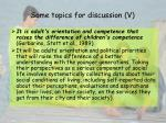 some topics for discussion v
