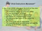 the child indicators movement
