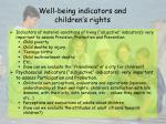 well being indicators and children s rights