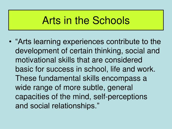 Arts in the schools3