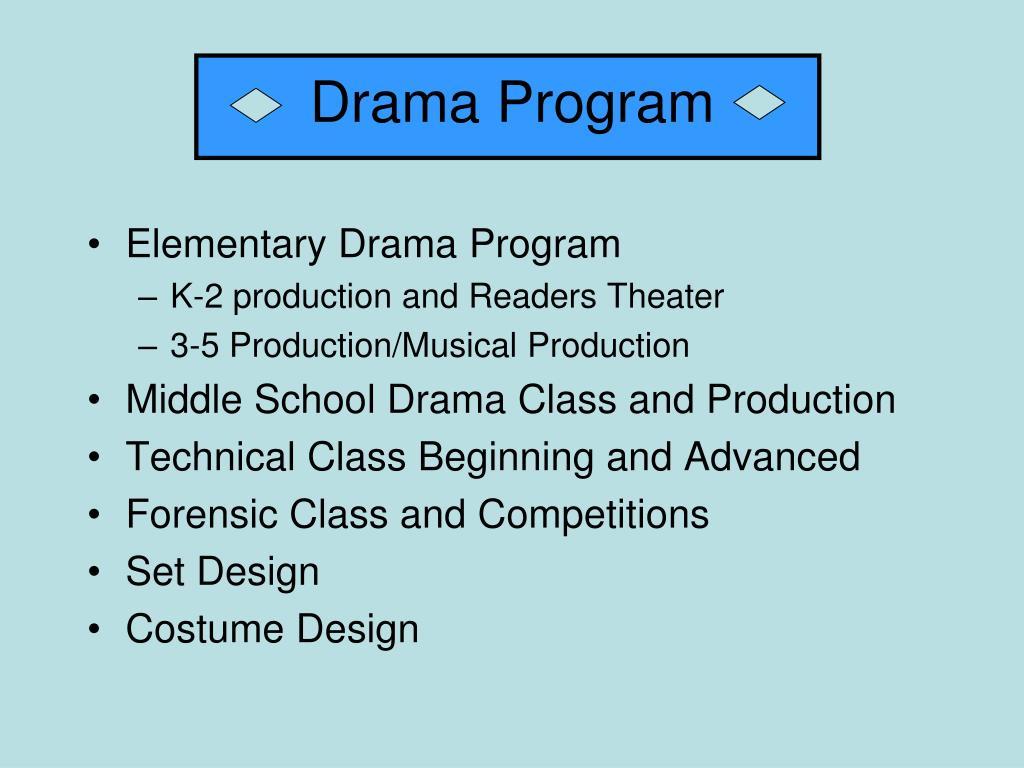 Drama Program