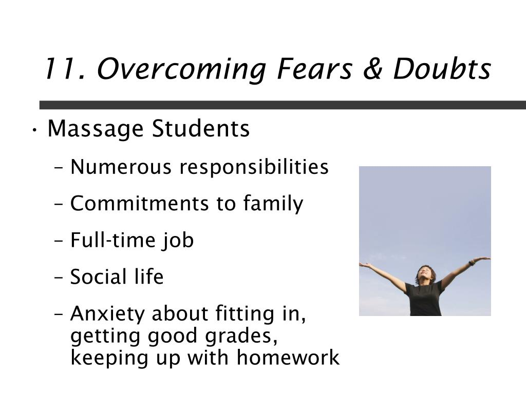 11. Overcoming Fears & Doubts
