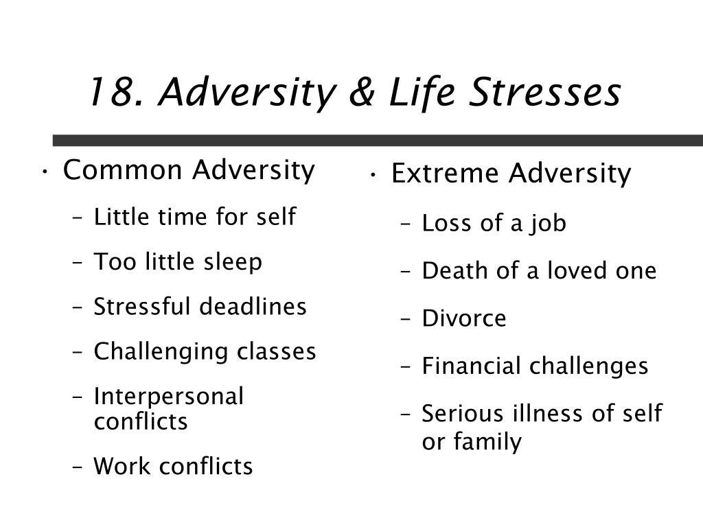 Common Adversity