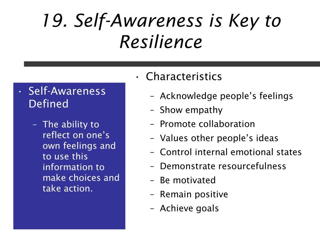 Self-Awareness Defined