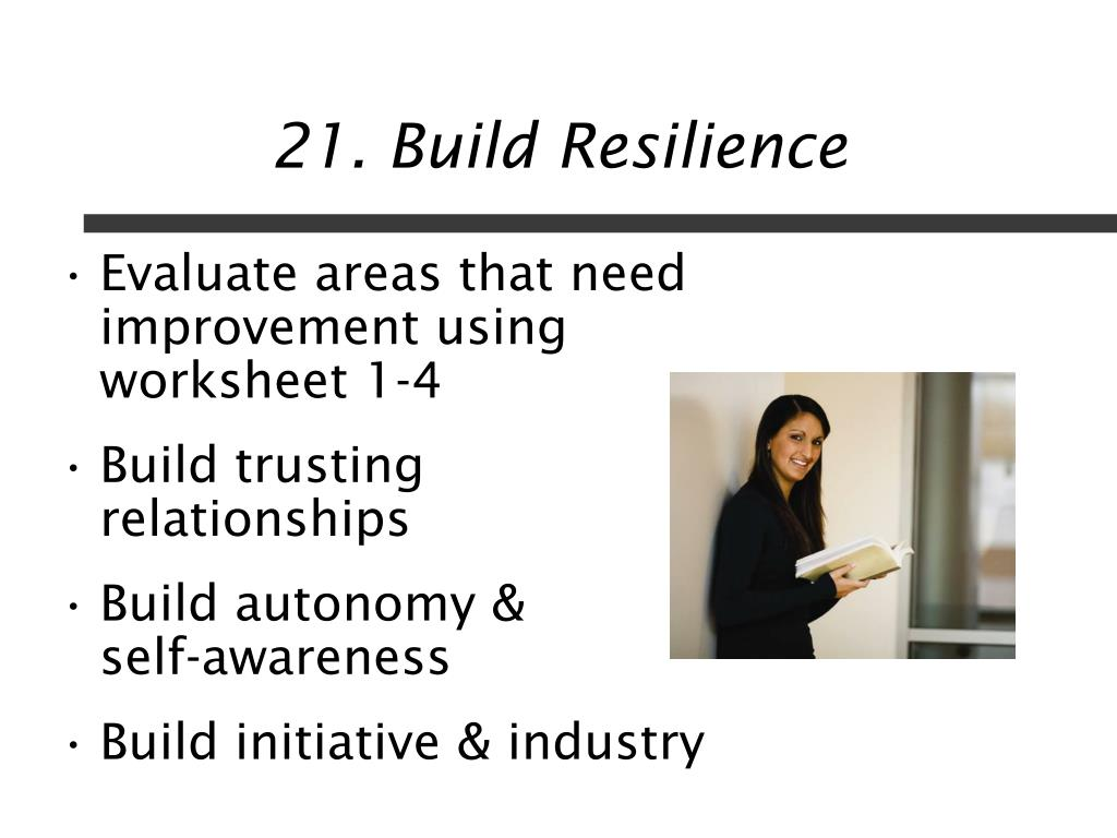 21. Build Resilience