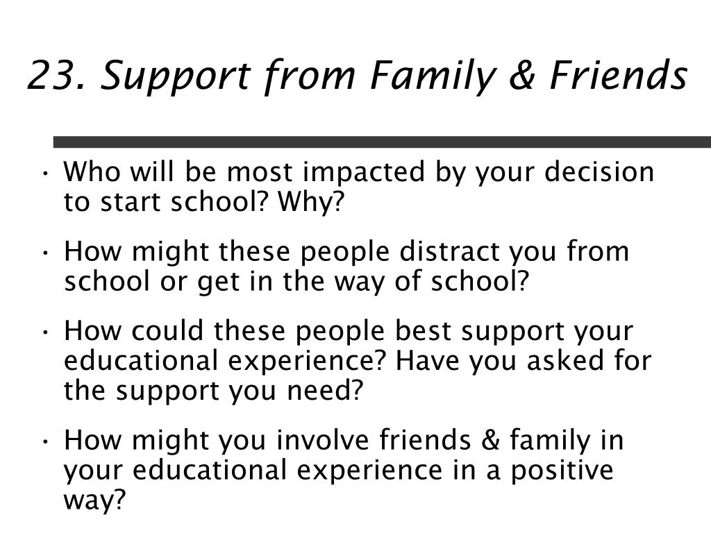 23. Support from Family & Friends