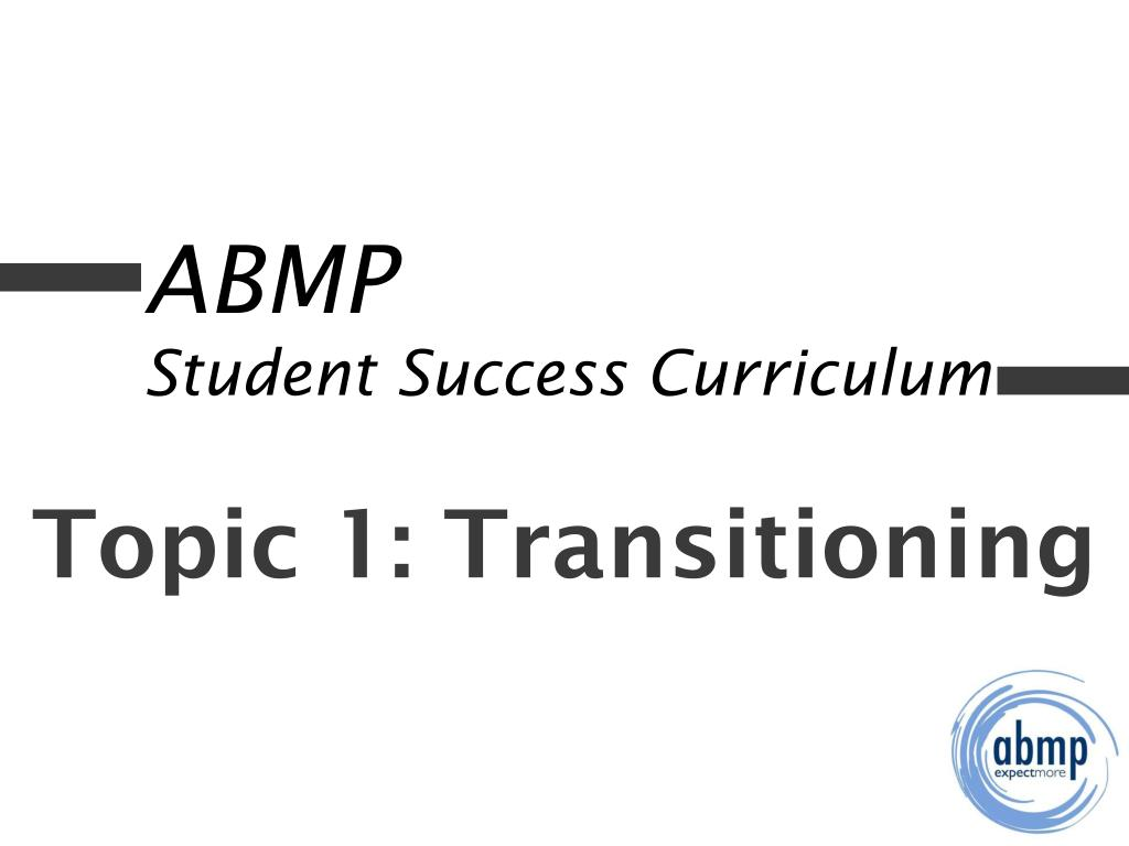 abmp student success curriculum l.