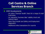 call centre online services branch24