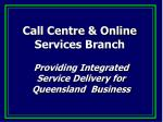 call centre online services branch25