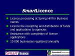smart licence