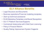 elv alliance benefits