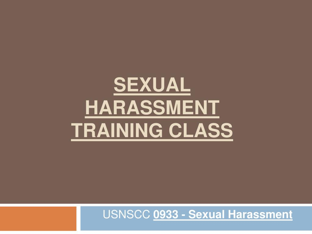 sexual harassment training class l.