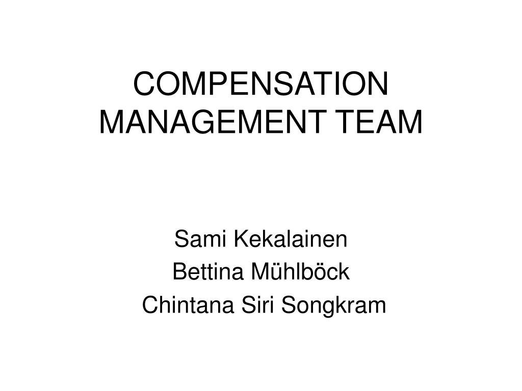 compensation management team l.