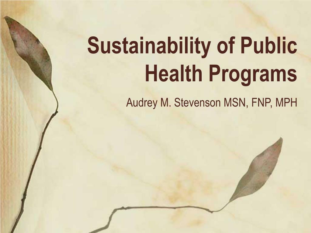 sustainability of public health programs l.