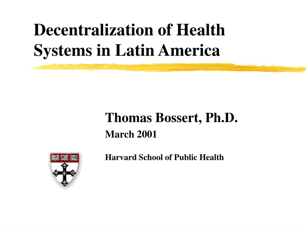 decentralization of health systems in latin america l.