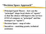 decision space approach
