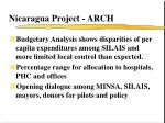 nicaragua project arch
