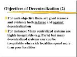 objectives of decentralization 2