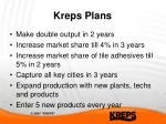kreps plans