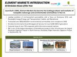 element markets introduction us emissions house of the year