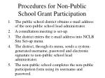 procedures for non public school grant participation