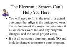 the electronic system can t help you here