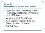 step 3 documents available online