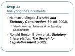 step 4 analyzing the documents