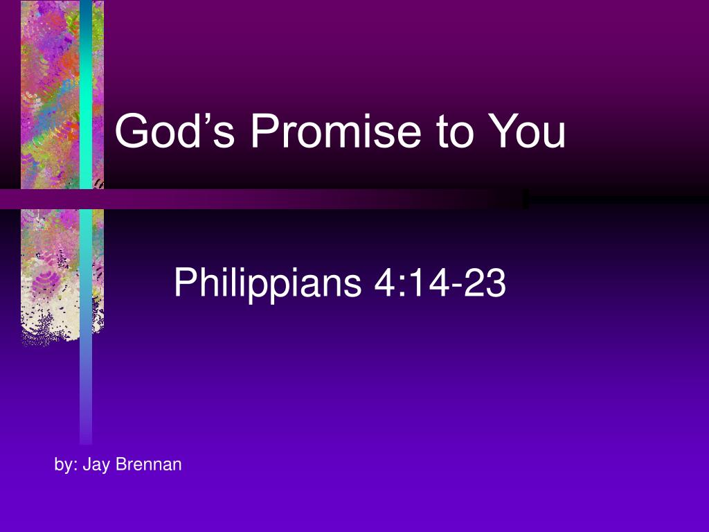 god s promise to you l.