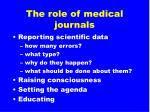 the role of medical journals11