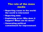 the role of the mass media