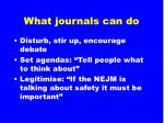 what journals can do