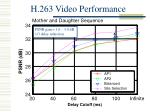 h 263 video performance