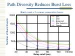 path diversity reduces burst loss