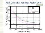 path diversity reduces packet loss