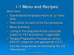 1 1 menu and recipes