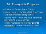 2 4 prerequisite programs