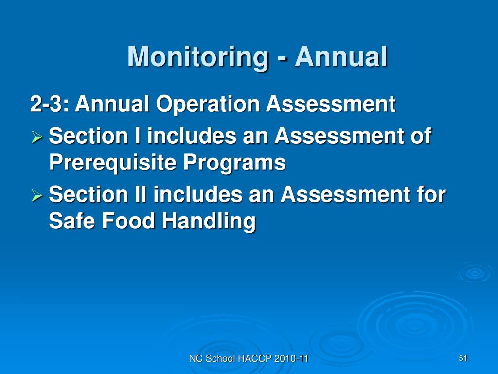 Monitoring - Annual