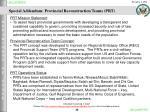 special addendum provincial reconstruction teams prt