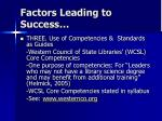 factors leading to success9
