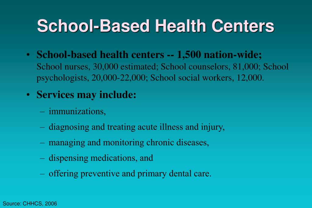 School-Based Health Centers