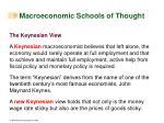 macroeconomic schools of thought43