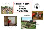 rothwell victoria infant school profile 2005