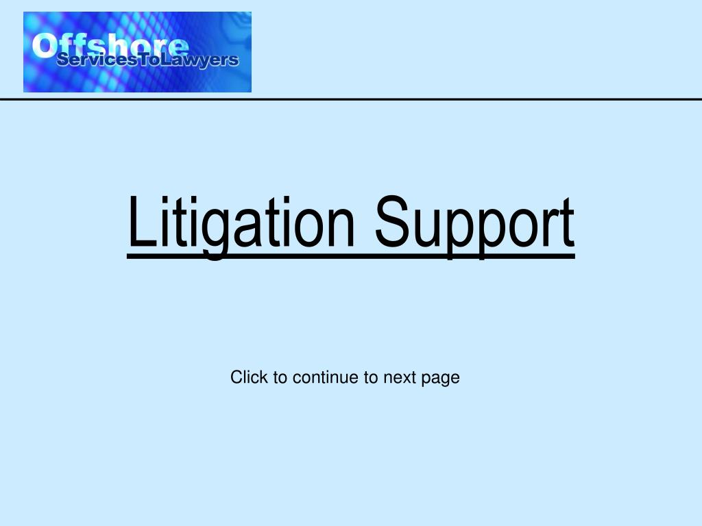 litigation support l.