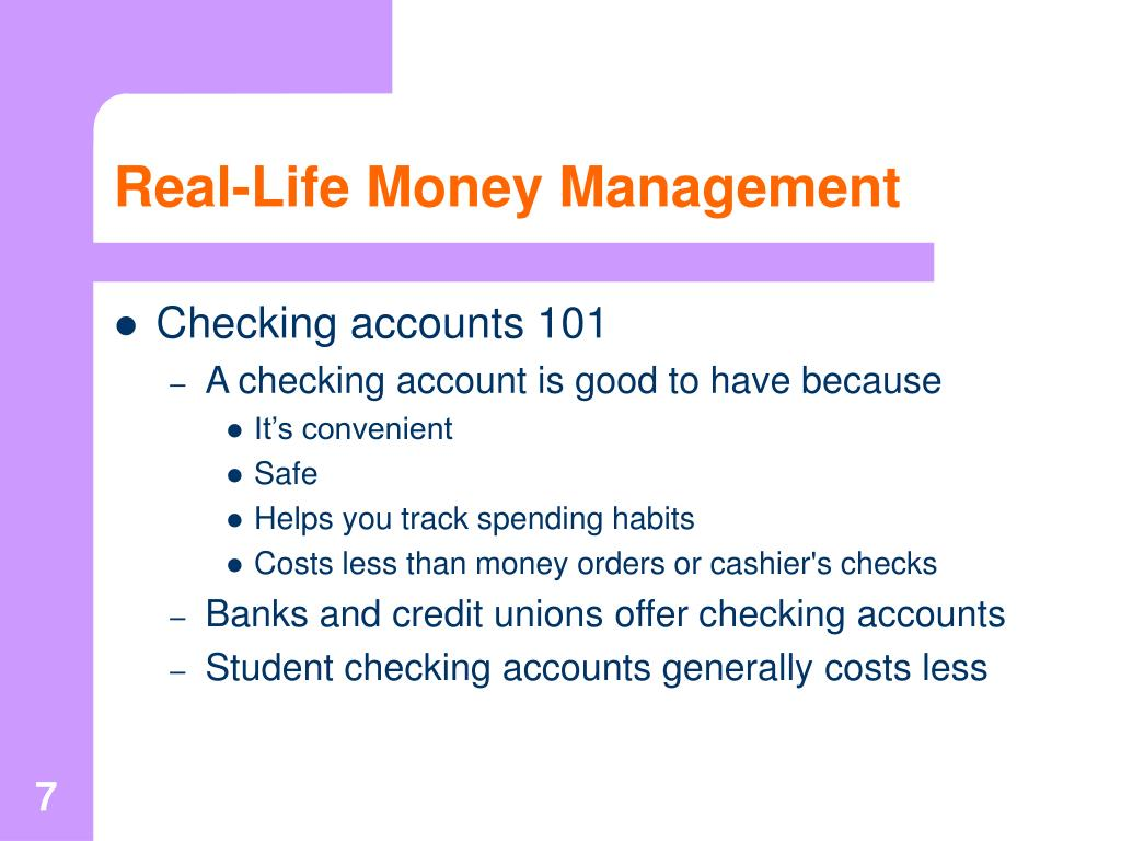 Real-Life Money Management