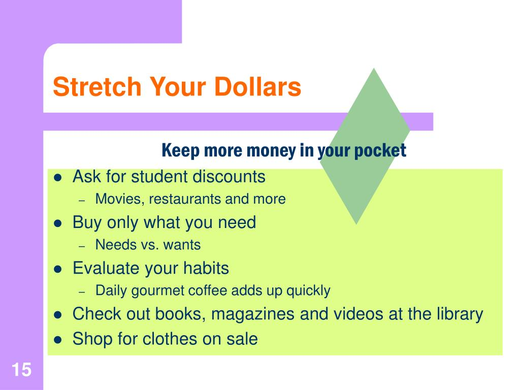 Stretch Your Dollars