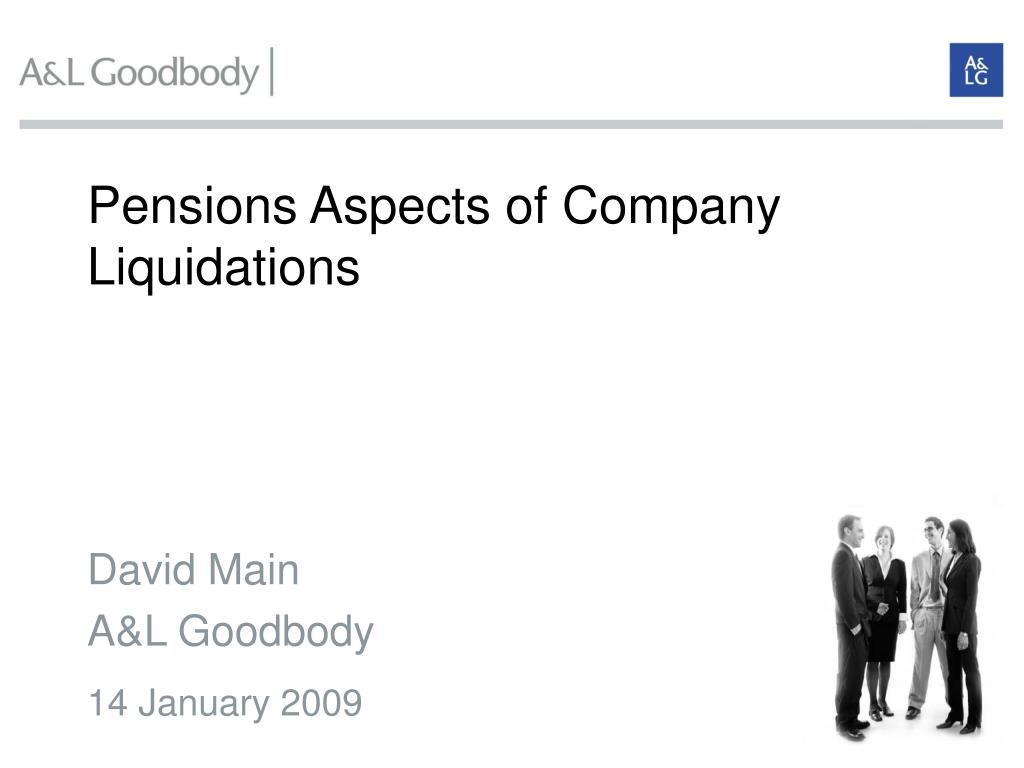 pensions aspec ts of company liquidations l.