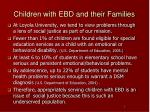 children with ebd and their families