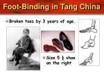 foot binding in tang china